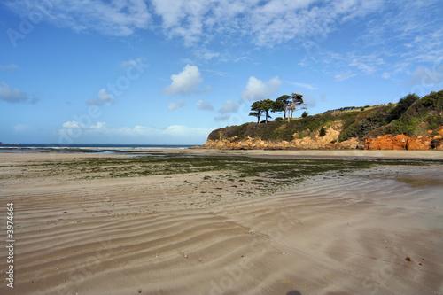 Obraz na plátně plage de l'atlantique à maree basse