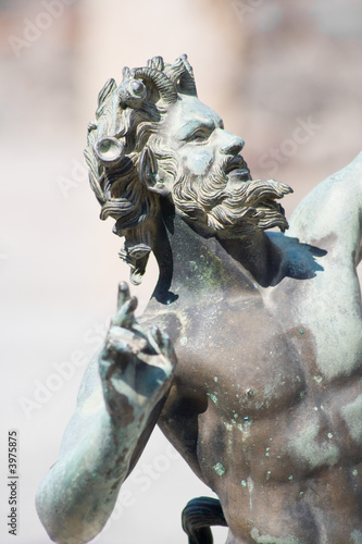 Satyr statue close-up from Pompeii, Italy Canvas Print