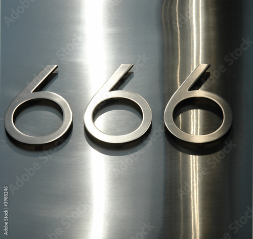 Obraz na plátne  666 the number of the beast