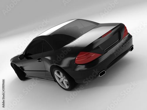 Photo  black sports car