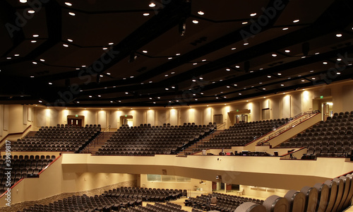 Auditorium Panorama Canvas Print