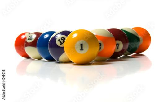 Photo Pool Ball on white