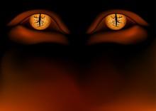 Daemon Eyes - Detailed Illustration As Background