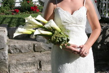 Bride With Cali Lily White Flo...