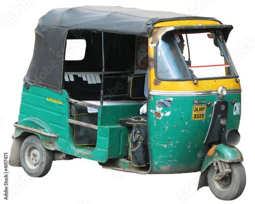 rickshaw 02 (avec ombre) Canvas Print