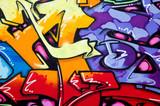 Fototapeta Teenage - Vibrant graffiti