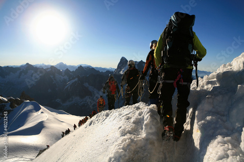 Alpinistes Canvas Print