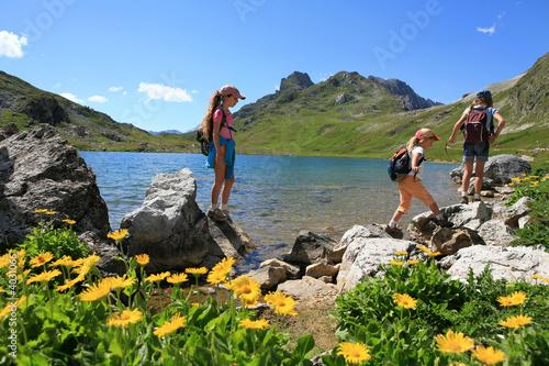 Fotografía  Randonnée lac et enfants