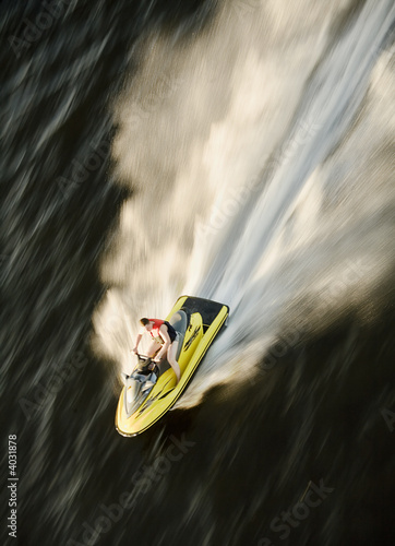 Canvas Prints Water Motor sports waverunner on the speed