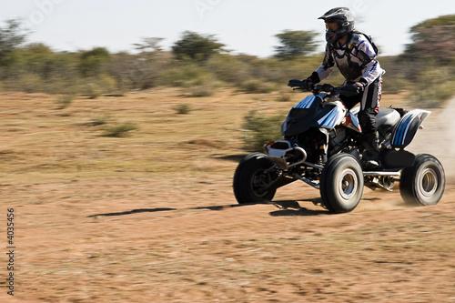 Quad bike desert race