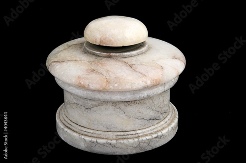 Decorative Alabaster Pot with Lid Wallpaper Mural