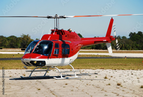 Poster Helicopter Bell 206 light helicopter