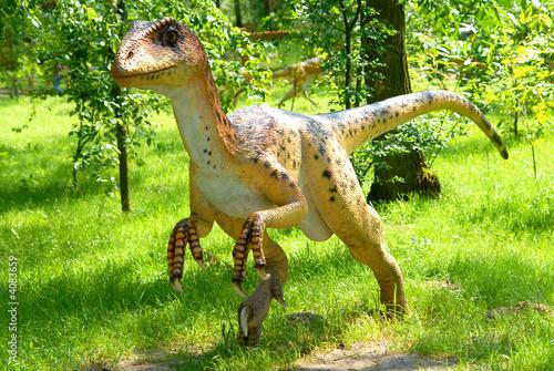 Fotografie, Tablou  Deinonychus antirrhopus, Deinonych, dinosaurs series