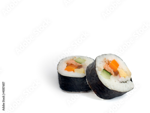 Printed kitchen splashbacks Sushi bar Futomaki (big roll)