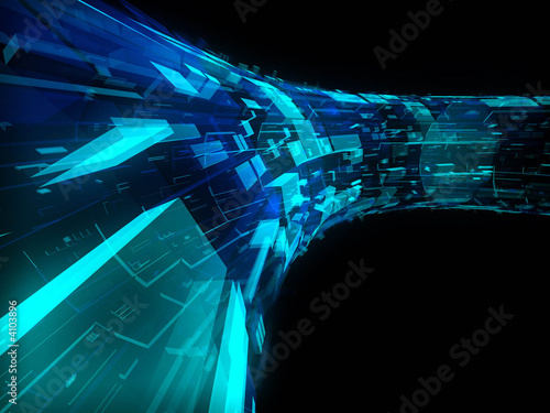 blue_&_green_greebles_on_a_tube Wallpaper Mural