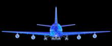 Super High Resolution Boeing 747 Blueprint Rendering.