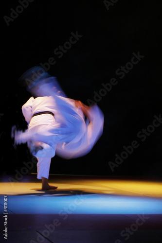 Photo  Projection en judo