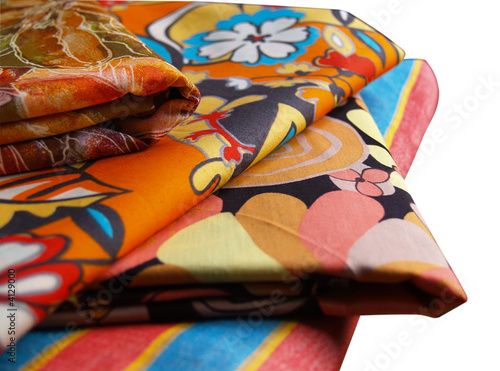 Valokuva  isolated colored printed cotton