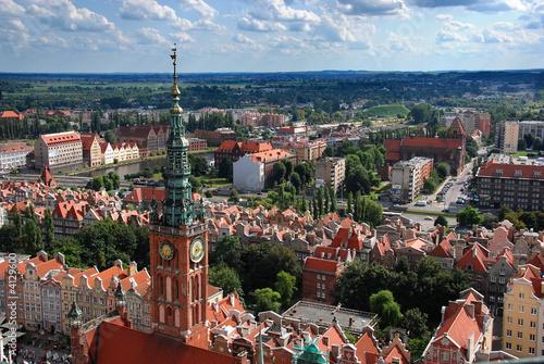 fototapeta na szkło Panorama Gdańska
