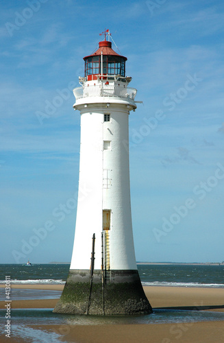 Lighthouse and ocean
