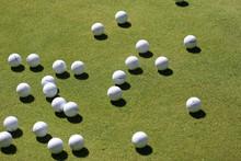 Golf Balls On The Green