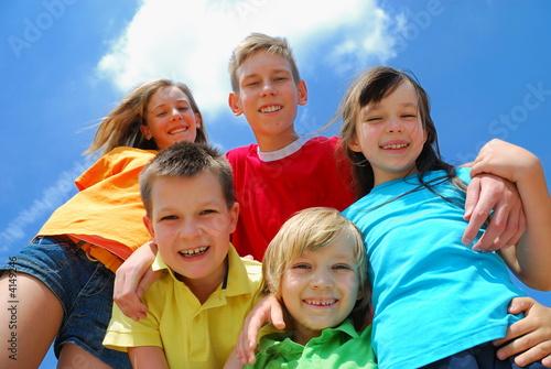 Fototapeta children on sky