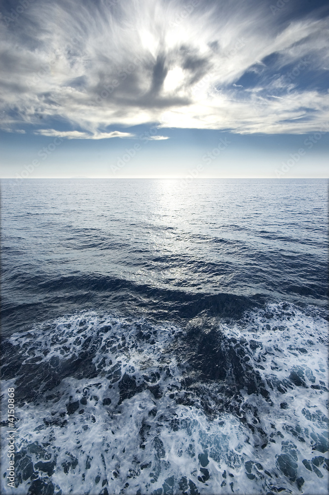 Foto-Schiebegardine Komplettsystem - mare e cielo