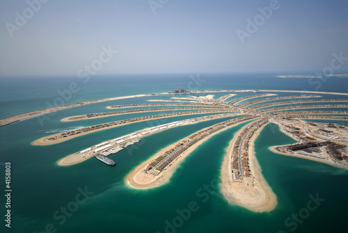Tuinposter Dubai Development Of The Palm Jumeirah In Dubai