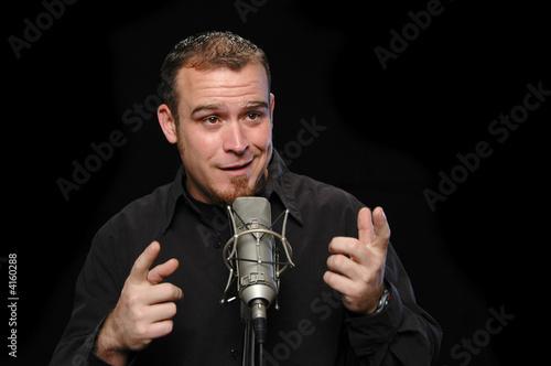 Fotografie, Obraz  Comedian performing