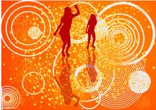 Danseuses Et Fond