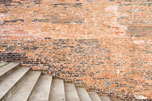 Old Brick Wall With Stairs
