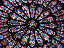 Stained-glass Window In Notre-Dame Cathedral, Paris