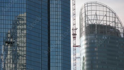 Fotografering  tour de bureaux en construction