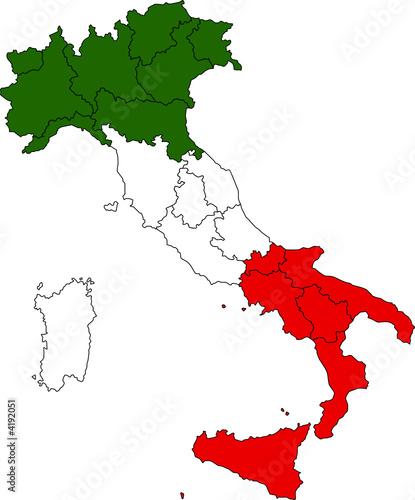 Cartina Italia Confini Regioni.Italia Cartina Confini Regionali Vettoriale Stock Adobe Stock