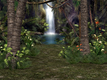 3D Waterfall Background