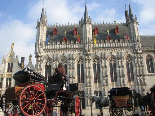 In de dag Brugge bruges - Hôtel de ville