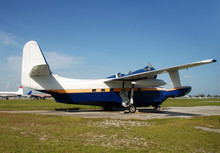 Classic Grumman Albatross Flying Boat Parked On The Ground