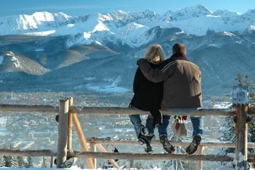 Couple in Tatra Mountains