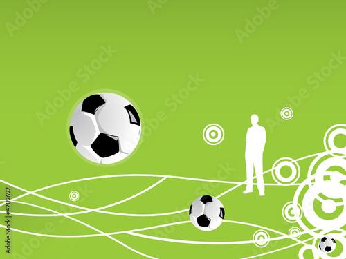 Photo football pattern