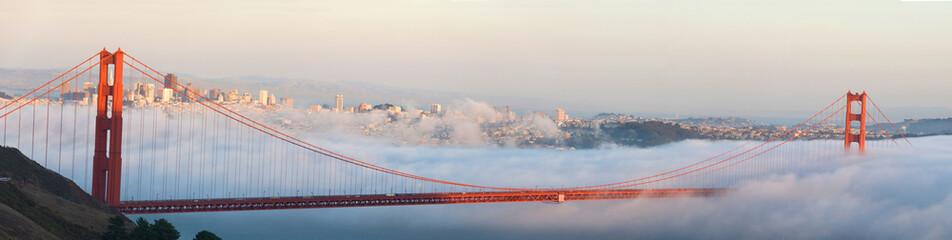 Fototapeta Mgła Golden Gate Bridge and San Francisco panorama
