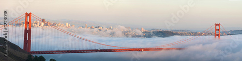 Poster Bridge Golden Gate Bridge and San Francisco panorama