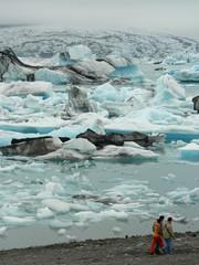 Lac glaciaire islandais