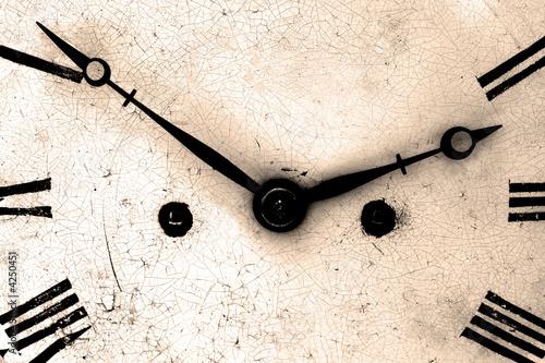 Antique clock face close up