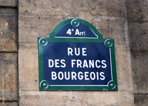 Fotografie, Obraz  Rue des Francs Bourgeois