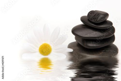 Doppelrollo mit Motiv - Massage stones (von MAXFX)