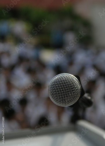 Photo  Microphone on rostrum
