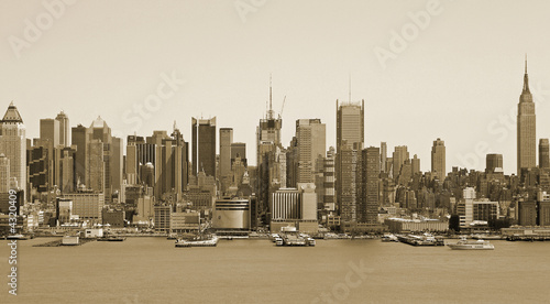 Photo  city - sepia