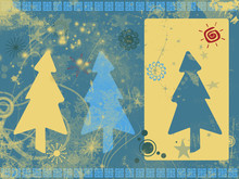 Grunge Christmas Background In Retro Colors Scheme