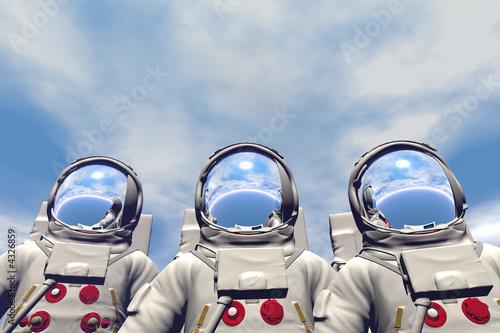 Fotografie, Obraz  3D render of astronaut
