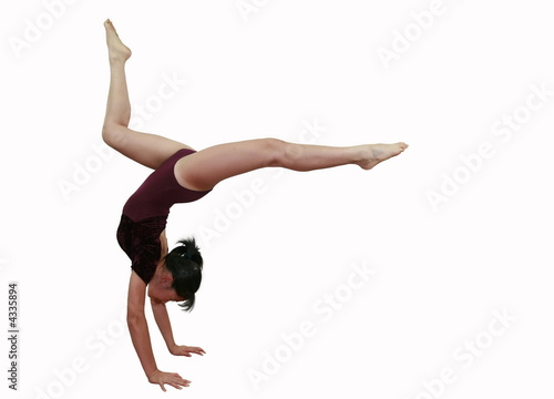Keuken foto achterwand Gymnastiek girl in gymnastics poses